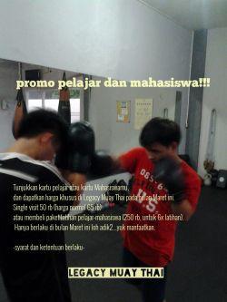 Promo Pelajar Legacy Muay Thai
