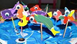 Membuat Kolam Ikan dari Kertas (Belajar Mengenal Jenis Binatang Laut)