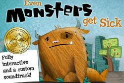Even Monsters Get Sick, Aplikasi Cerita Interaktif dan Menyenangkan