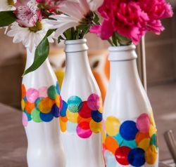 Vas Bunga dari Kemasan Botol