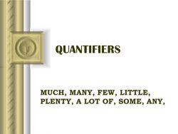 Jenis Quantifiers pada Kalimat