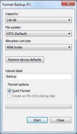 Perbedaan Format Biasa dan Quick Format