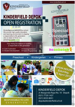 Open House Kinderfield Depok April 2015