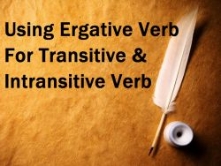 Pengenalan Ergative Verb pada Transitive dan Intransitive