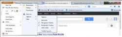 Cara Menampilkan Menu Tool Bar pada Mozilla Browser
