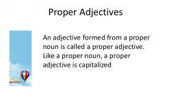 Penggunaan Proper Adjective pada Kalimat