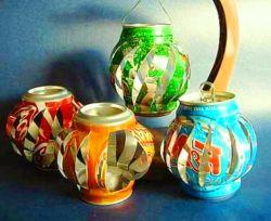 Membuat Lentera (Lampu Hias) dari Kaleng Bekas