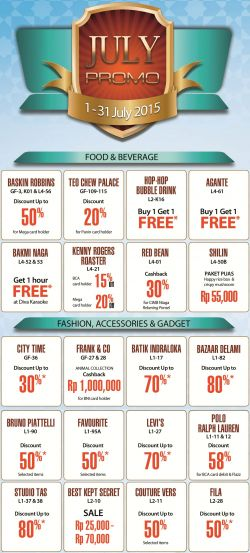 Promo Juli di Pluit Village Mall