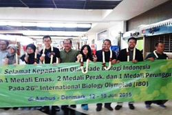 Luar Biasa! Pelajar Indonesia Raih 4 Medali di IBO Denmark 2015