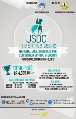 The 7th Jenderal Soedirman Debating Championship
