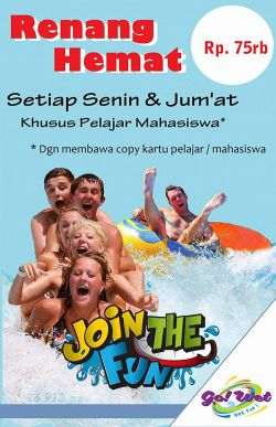 Main Air Seru di Go! Wet dengan Tunjukkan Kartu Pelajar