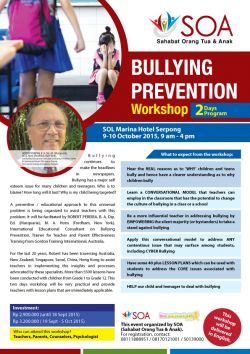 Bullying Prevention Workshop