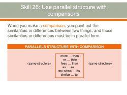 Parallel Comparison pada Penggunaannya