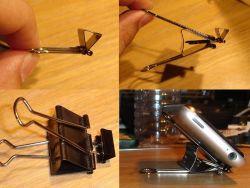 Penyangga Smartphone dari Penjepit Kertas