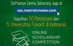 Raih Beasiswa Full Online Scholarship Competition Metro TV di 5 PTS Favorit