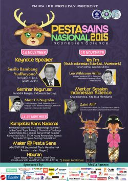 Pesta Sains Nasional 2015, Sainskan Indonesia!