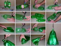 Cara Membuat Sapu dari Botol Bekas