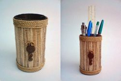Membuat Tempat Pensil dari Pelepah Pisang