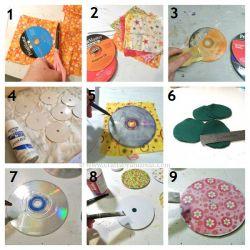 Tatakan Unik dari Piringan CD