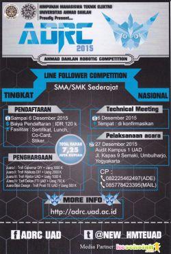 Lomba Line Follower Tingkat SMA/SMK/MA Nasional 2015
