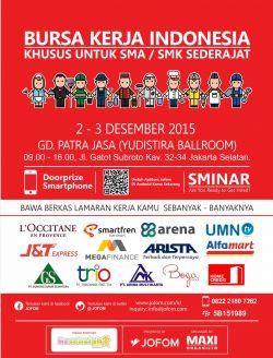 Bursa Kerja SMA/SMK 2-3 Desember 2015