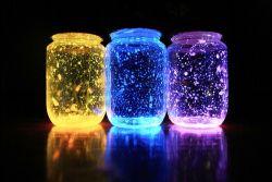 Yuk Membuat Lampu Tidur Warna -Warni Menggunakan Botol Bekas Selai dan Cat Fosfor!
