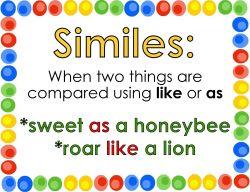 Cara Penggunaan Simile pada Bahasa Inggris