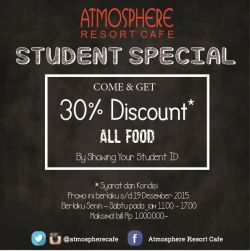 Atmosphere Cafe Student Special Promo