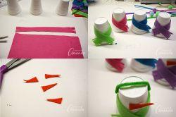 Manfaatkan Kemasan Styrofoam Menjadi Boneka Salju