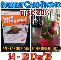 Student Card Promo Koffie Tijd