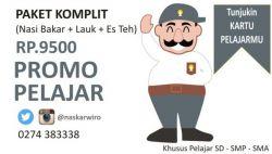 Promo Pelajar Nasi Bakar Wirobrajan Cuma 9500