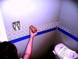 Melukis Dinding dengan Cara Cap