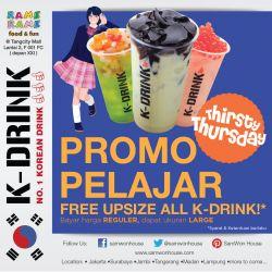 Promo Upsize K-Drink di Samwon Express