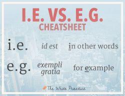 Pahami Yuk Penggunaan E.G. dan I.E.