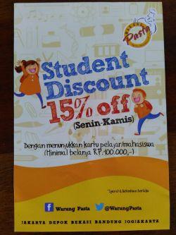 Student Promo di Warung Pasta, Yuk Merapaattt!