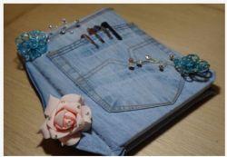 Lapisi Binder Kesayanganmu dengan Denim Jeans Bekas