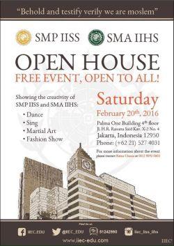 Open House SMP IISS / SMA IIHS 2016