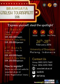 Bet 2016 (Brawijaya English Tournament)