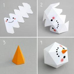 Kerajinan Tangan Kertas Membuat Boneka Salju