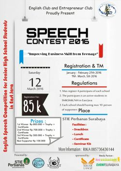 Speech Contest (International English Fun Festival 2016)