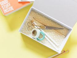 Menghias Tempat Pensil dengan Kertas Pola