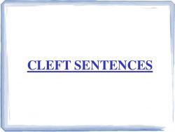 Cleft Sentence pada Kalimat