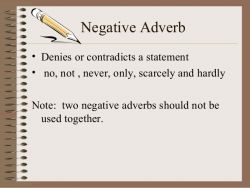 Apa Itu Negative Adverb?