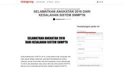 Sekitar 3.618 Orang Tandatangani Petisi Kecewa Sistem SNMPTN 2016