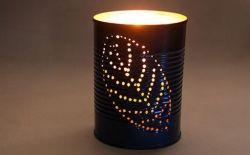 Membuat Wadah Lampu Cantik dari Kaleng Bekas