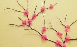 Membuat Bunga Sakura dari Kertas Krep