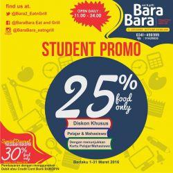 Student Promo di Bara Bara Eat N Grill