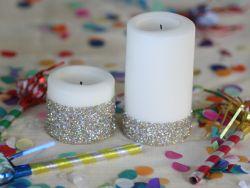Hias Lilin dengan Glitter