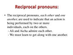 Reciprocal Pronoun pada Kalimat