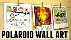 Hias Dinding Kamar dengan Foto ala Polaroid